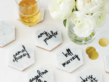 DIY coasters styling: Lisa Lee for Ray Brown Productions