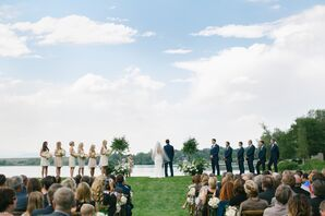 Waterfront Garden-Party-Inspired Wedding Ceremony
