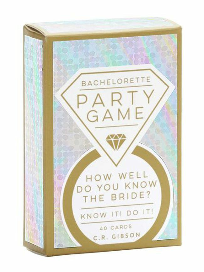 """""""How well do you know the bride"""" bachelorette party card game"""