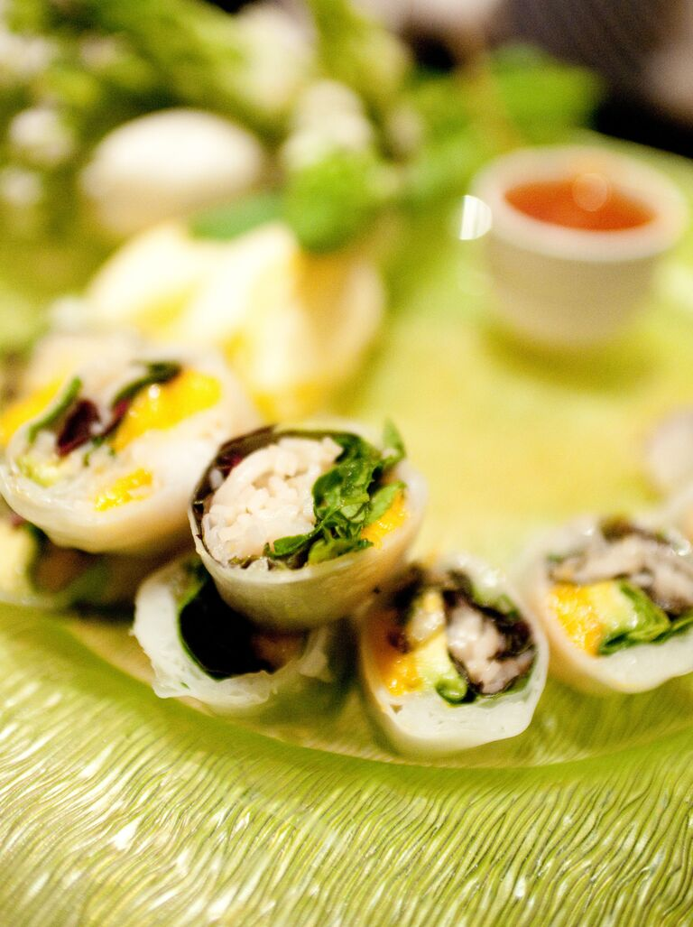 Vegan sushi wedding menu