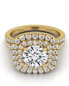 RockHer Unique Round Cut Engagement Ring