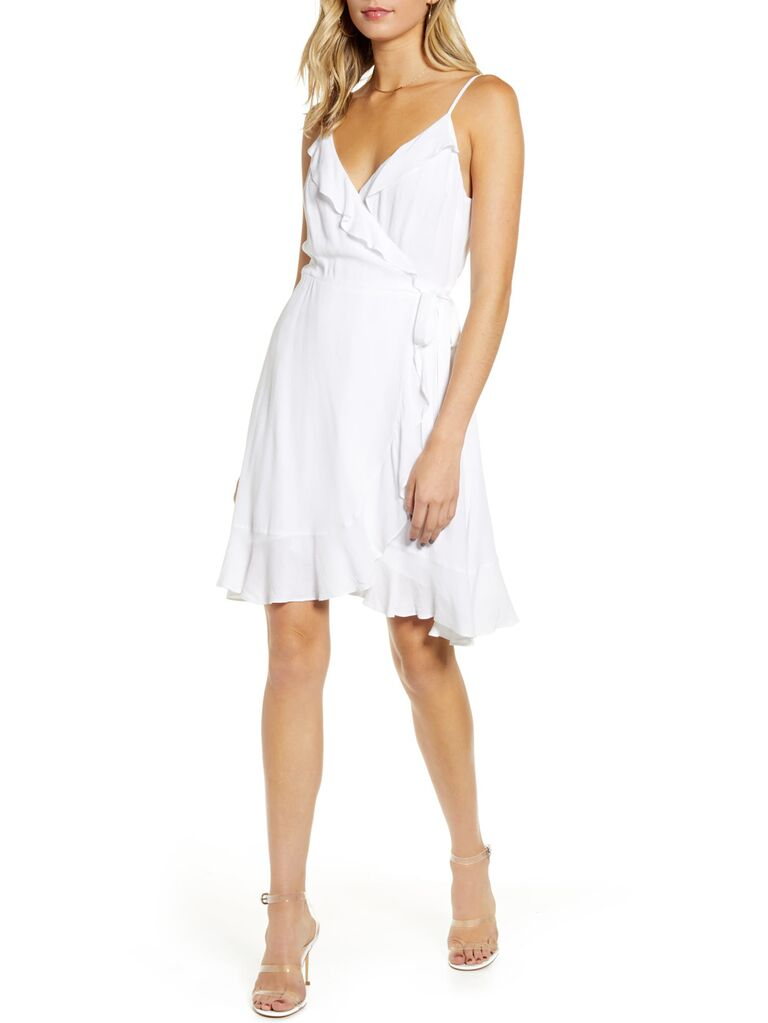 Casual white engagement party dress