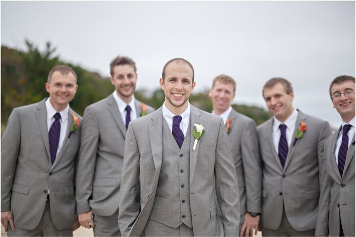 Traditional Three Piece Gray Suits