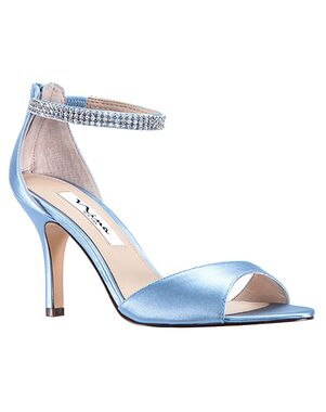 Nina Bridal Volanda_Blue Velvet Satin Black, Blue, Green, Ivory, Pink, Purple, Champagne Shoe
