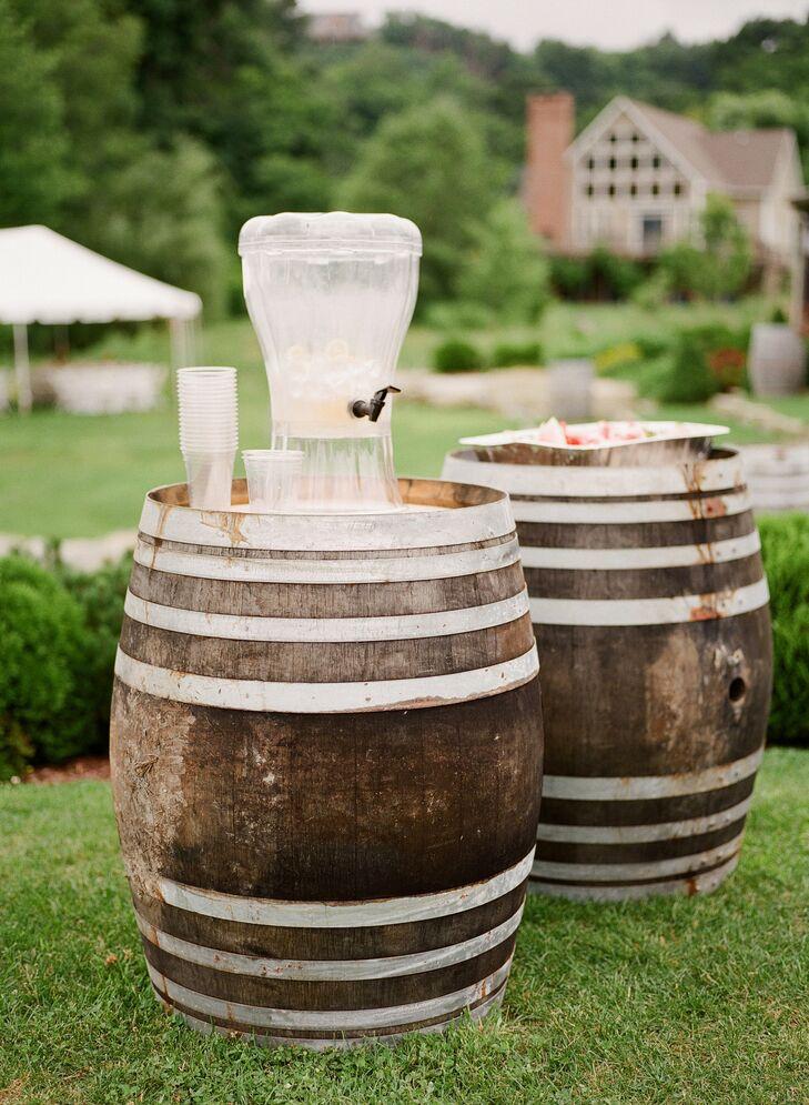 Wine Barrel Cocktail Station