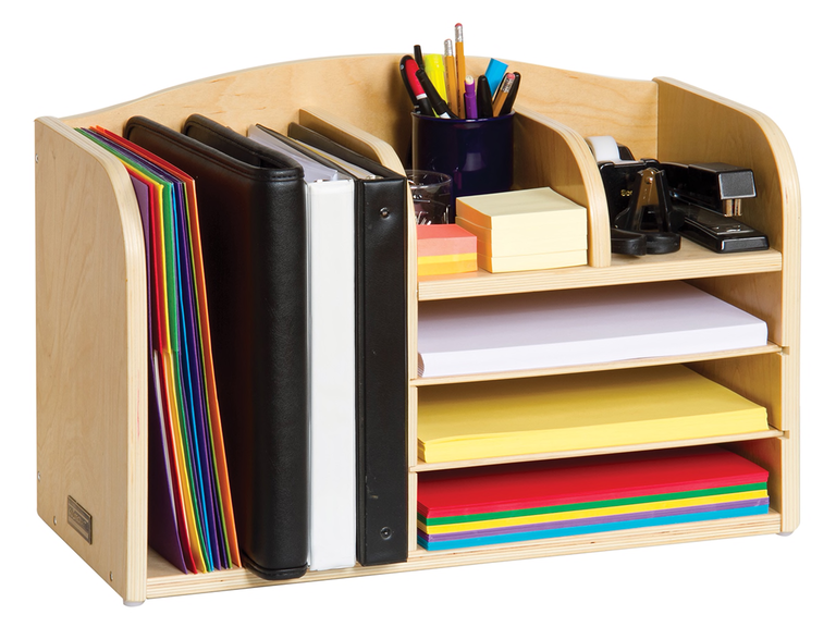 3 This Oversized Birch Plywood Desk Organizer Is An Attractive And Practical Option For A 7 Year Anniversary Gift