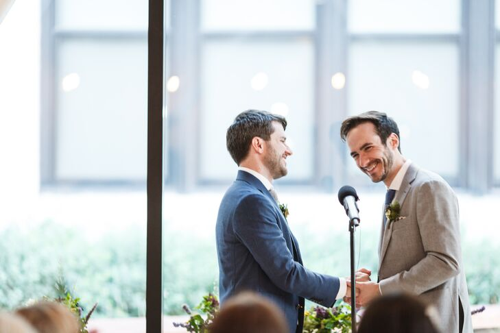 Same-Sex Couple Saying Vows at the Greenhouse Loft in Chicago