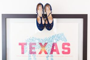 Fun Blue Shoes Photographed With Texas Decor