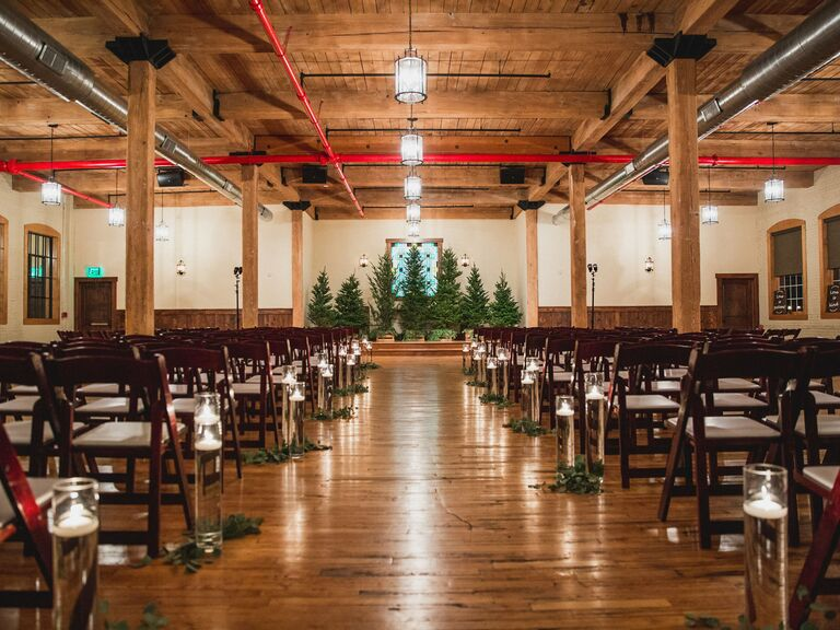 Winter wedding venue in Mifflinburg, Pennsylvania.