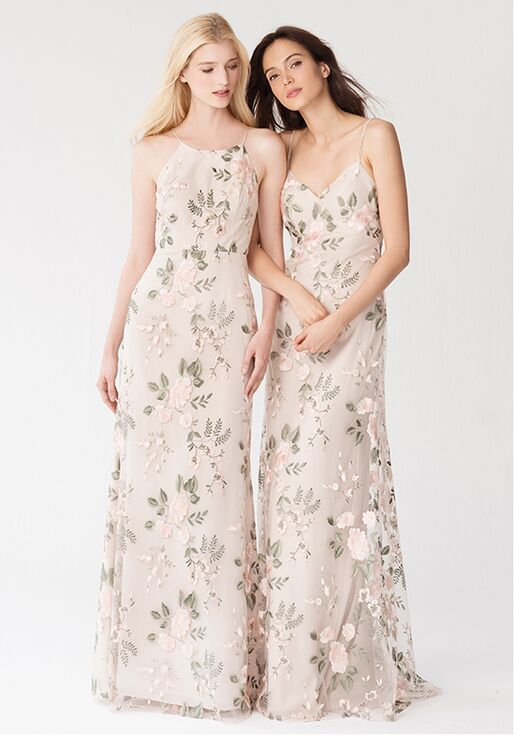 bff995fe1f1 Jenny Yoo Collection (Maids) Claire  Blush Sand Dune   1765 Bateau  Bridesmaid