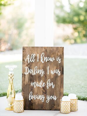 Calligraphed Wooden Sign