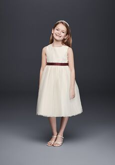 David's Bridal Flower Girl David's Bridal Style OP218 Ivory Flower Girl Dress
