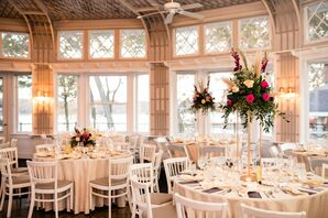 Formal Reception with White Chairs at Toledo Country Club in Ohio
