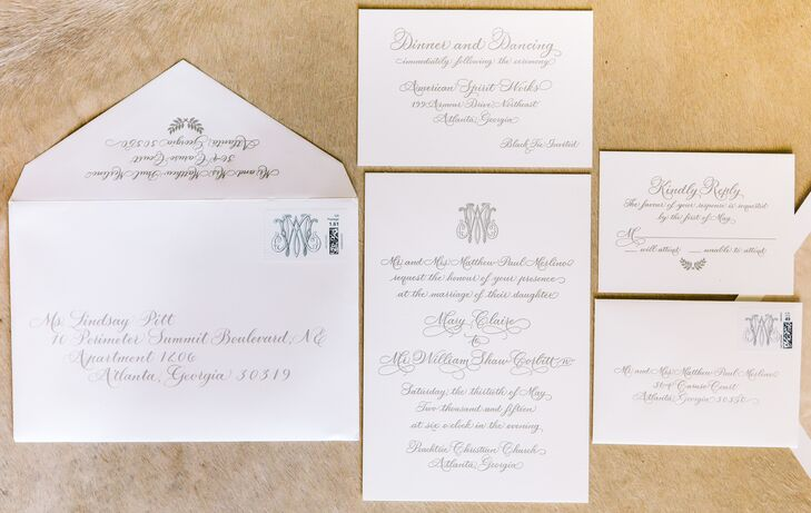 Harrison Rohr of Exquisite Stationery designed both the save-the-dates and  invitations, which had a simple yet modern look.
