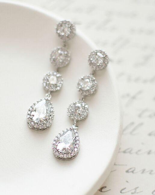 Dareth Colburn Adalia CZ Drop Earrings (JE-1551) Wedding Earrings photo
