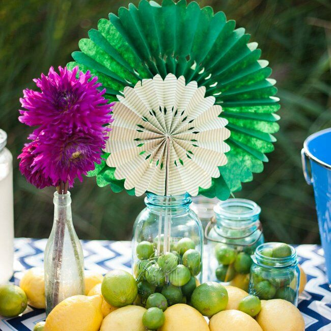 Bright Colored Table Decor