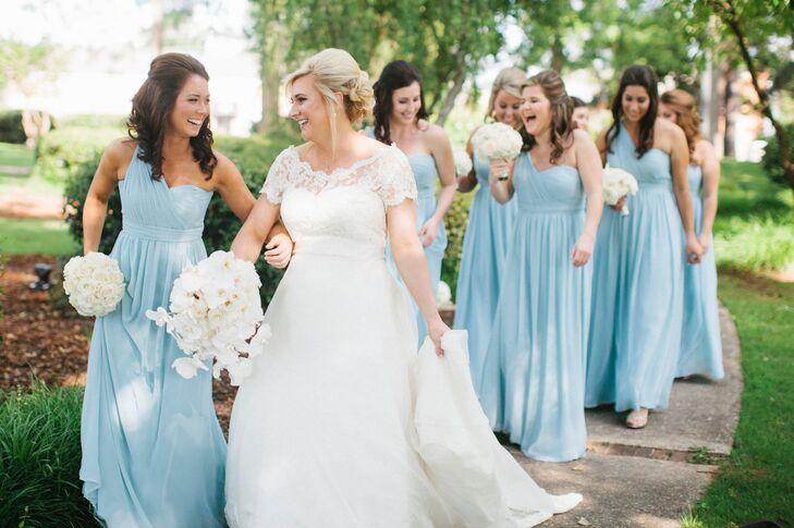 Light Blue Jenny Yoo Convertible Bridesmaid Dresses