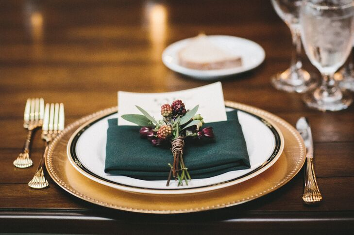 Blackberry-Accented Place Settings
