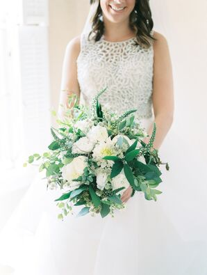 Full Classic Bouquet of Veronica, Roses, Peonies and Greenery