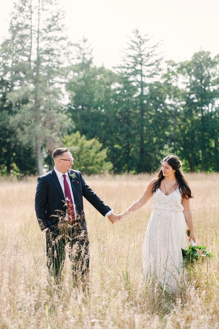 College sweethearts Luciana (Luci) DiMaggio (25 and a crisis recovery advisor) and Nolan Doyle (29 and a family service specialist) tied the knot in a