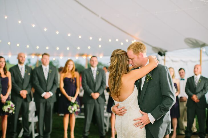 Before sitting down to a family-style dinner and fresh strawberry shortcake, Kimberly and Peter took to the dance floor, where they shared their first dance as husband and wife as their closest family members and friends looked on.