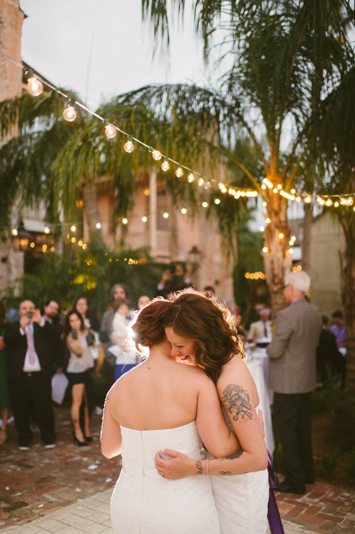 We chose 'Lovely Day' by Maroon 5 for our first dance, not because they're our favorite band, but because that song says so much about our love, Gretchen says.