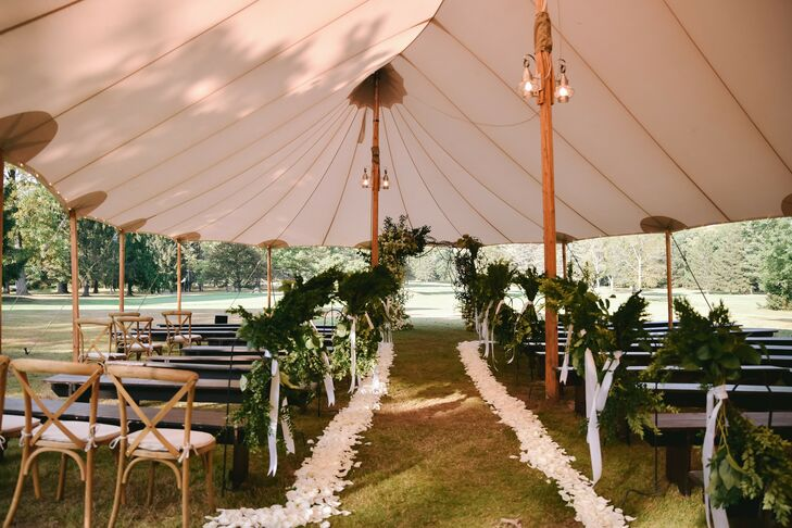 "Hilary and Alex took a trip back to camp when it came time to tie the knot. ""The Forest Lake Club is a very important place for us because it is where"
