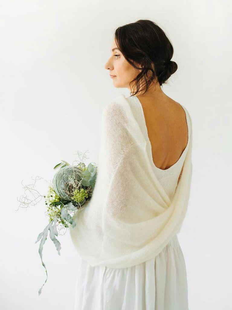 Ivory mohair Winter wedding shawl ..Bride wrap.bridesmaid shawl..winter bridesmaid shawl.mother shawl Mohair scarf..winter Mohair shawl
