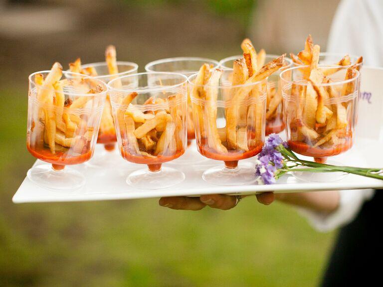 Vegetarian Wedding Menu French Fries