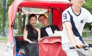 Pedicab Wedding Transportation