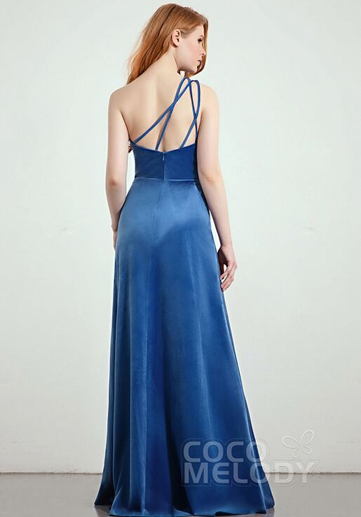 CocoMelody Bridesmaid Dresses CB0277 One Shoulder Bridesmaid Dress