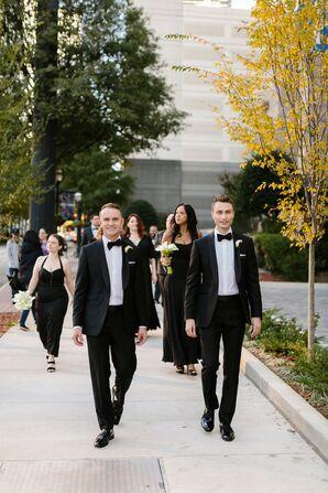 Same-Sex Couple in Formal Tuxedos at Atlanta, Georgia, Wedding