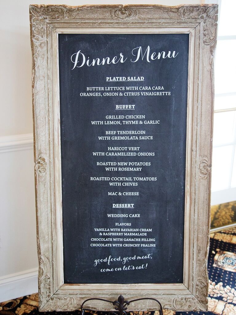 Image result for buffet chalk board wedding