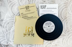 Hip-Hop-Inspired Invitations with Personalized Record