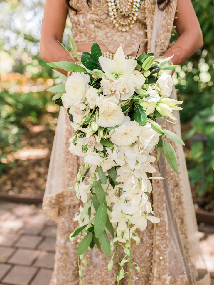 Cascading Rose and Lily Bouquet