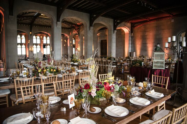 Harry Potter-Inspired Reception Décor at Hempstead House in New York