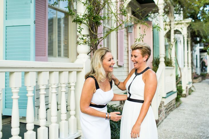 ZoeGuilford (left) and Gemma Wasley visited Savannah on a road trip, and they instantly felt an affinity for it. When they got engaged shortly after,
