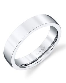 MARS Fine Jewelry MARS Jewelry G136 Men's Band White Gold Wedding Ring