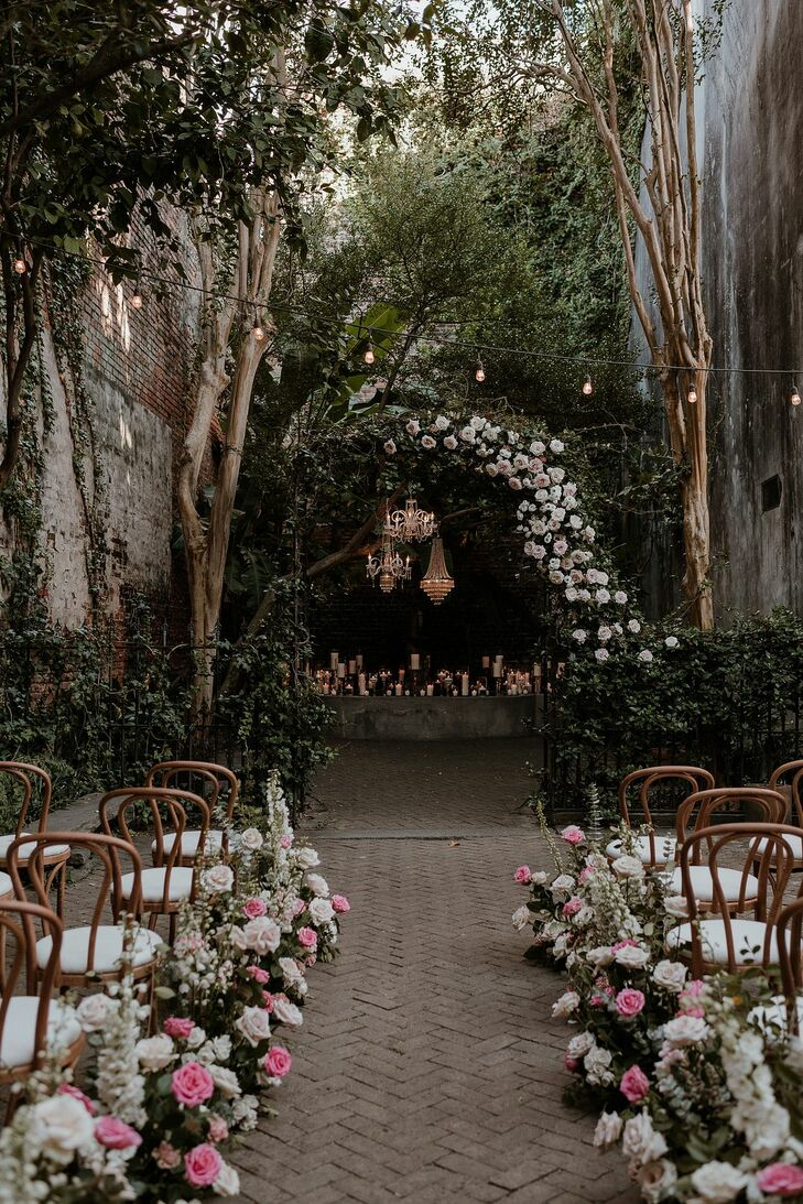 Intimate, Romantic Garden Ceremony at the New Orleans Pharmacy Museum