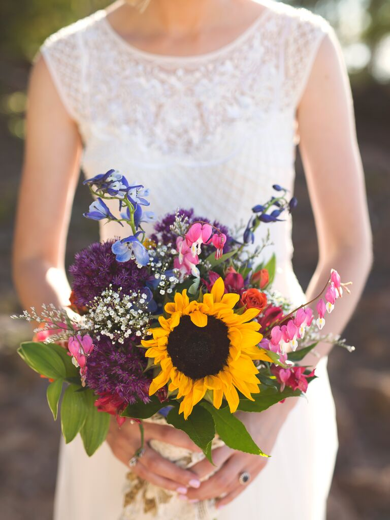 Dark jewel-toned fall wedding bouquet