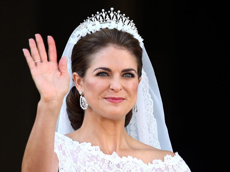 Princess Madeleine on her wedding day