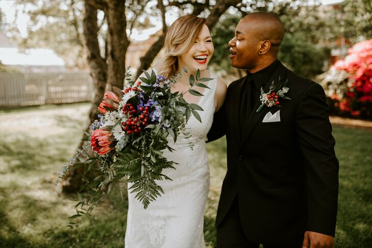 Dani Fitzgerald (24 and a reporter) and Mike Brown (24 and works at Big Brothers Big Sisters) live with intention, so the pair planned their wedding i