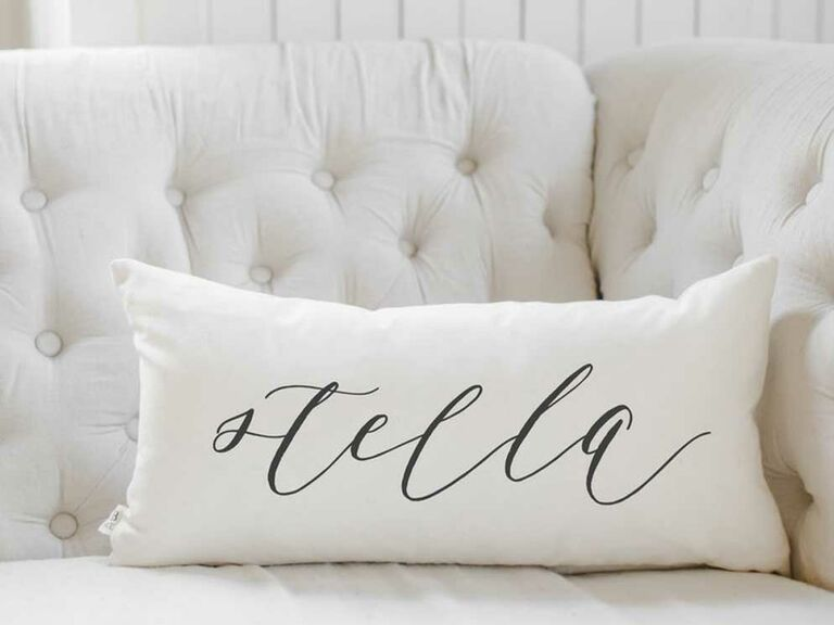 Custom calligraphy cotton pillow