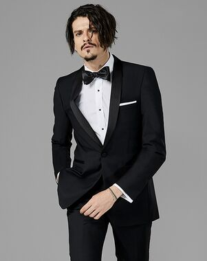 Generation Tux Black Shawl Lapel Tuxedo Black Tuxedo