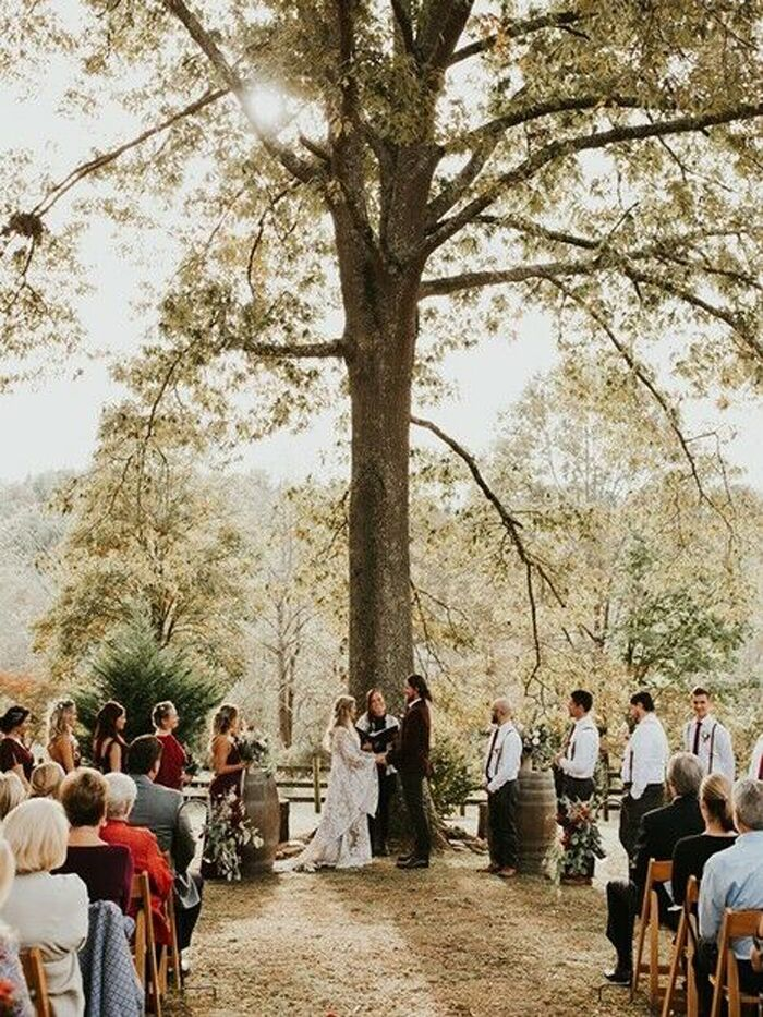 Asheville wedding venues in Leicester, North Carolina.