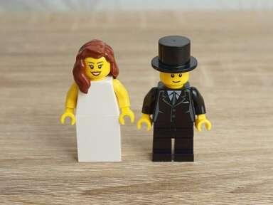 lego bride and groom Etsy wedding cake topper