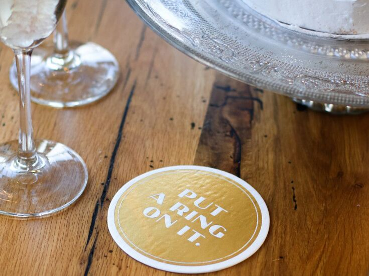 Disposable foil coasters from Easy, Tiger