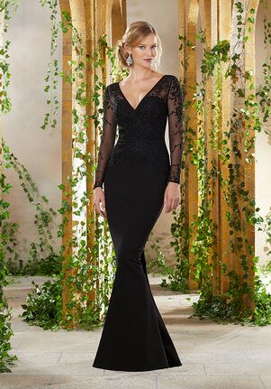 MGNY 71910 Black Mother Of The Bride Dress