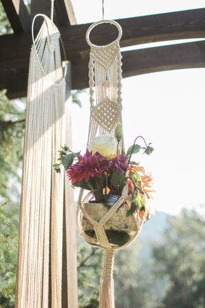 Bohemian Macramé Flower Arrangement Holder