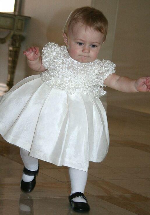 50726843a16 Isabel Garretón Short Sleeve Flutter Flower Girl Dress - The Knot